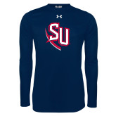 Under Armour Navy Long Sleeve Tech Tee-SU