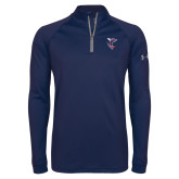 Under Armour Navy Tech 1/4 Zip Performance Shirt-Hornet
