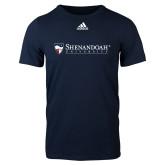 Adidas Navy Logo T Shirt-Primary University Mark