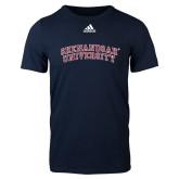 Adidas Navy Logo T Shirt-Arched