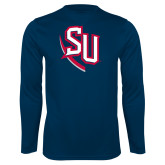 Syntrel Performance Navy Longsleeve Shirt-SU