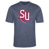Performance Navy Heather Contender Tee-SU