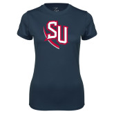Ladies Syntrel Performance Navy Tee-SU