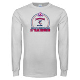 White Long Sleeve T Shirt-10 Year Reunion 2009 Baseball Champions