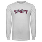 White Long Sleeve T Shirt-Arched