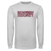 White Long Sleeve T Shirt-Shenandoah University - Distressed