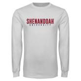 White Long Sleeve T Shirt-Shenandoah University