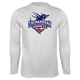 Syntrel Performance White Longsleeve Shirt-Official Logo