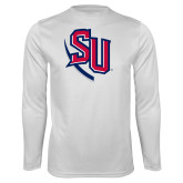 Performance White Longsleeve Shirt-SU