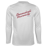 Performance White Longsleeve Shirt-Script Established Date
