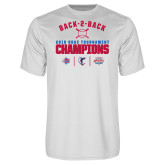 Performance White Tee-Back 2 Back ODAC Baseball Champions