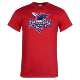 Red T Shirt-Official Logo Distressed