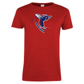 Ladies Red T Shirt-Hornet
