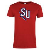 Ladies Red T Shirt-SU