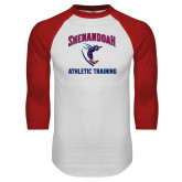 White/Red Raglan Baseball T-Shirt-Athletic Training