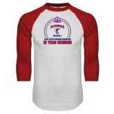 White/Red Raglan Baseball T Shirt-10 Year Reunion 2009 Baseball Champions