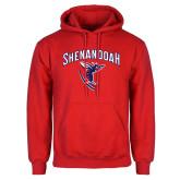 Red Fleece Hoodie-Shenandoah Hornet