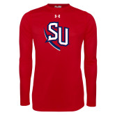Under Armour Red Long Sleeve Tech Tee-SU