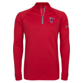 Under Armour Red Tech 1/4 Zip Performance Shirt-Hornet