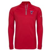Under Armour Red Tech 1/4 Zip Performance Shirt-Hornet