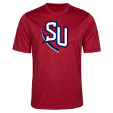Performance Red Heather Contender Tee-SU