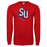 Red Long Sleeve T Shirt-SU