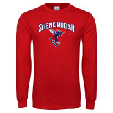 Red Long Sleeve T Shirt-Shenandoah Hornet