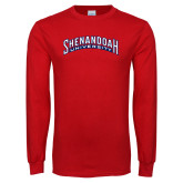 Red Long Sleeve T Shirt-Shenandoah University Arched