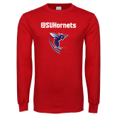 Red Long Sleeve T Shirt-SU Hornets