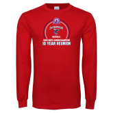 Red Long Sleeve T Shirt-10 Year Reunion 2009 Baseball Champions