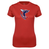 Ladies Syntrel Performance Red Tee-Hornet