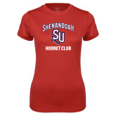 Ladies Syntrel Performance Red Tee-SU Hornet Club