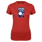 Ladies Syntrel Performance Red Tee-Ranked first in the nation