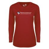 Ladies Syntrel Performance Cardinal Longsleeve Shirt-Primary University Mark