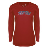 Ladies Syntrel Performance Cardinal Longsleeve Shirt-Arched