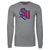 Grey Long Sleeve T Shirt-SU