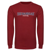 Cardinal Long Sleeve T Shirt-Squeeze Text