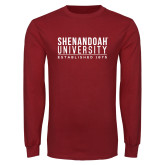 Cardinal Long Sleeve T Shirt-Established Date Stacked