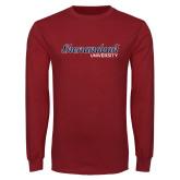 Cardinal Long Sleeve T Shirt-Script