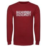Cardinal Long Sleeve T Shirt-Shenandoah University - Distressed