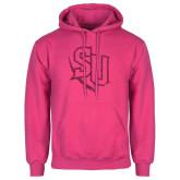 Fuchsia Fleece Hoodie-SU Hot Pink Glitter