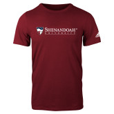 Adidas Cardinal Logo T Shirt-Primary University Mark