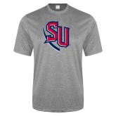 Performance Grey Heather Contender Tee-SU