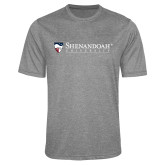 Performance Grey Heather Contender Tee-Primary University Mark