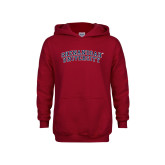 Youth Cardinal Fleece Hoodie-Arched
