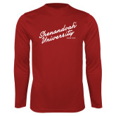 Performance Cardinal Longsleeve Shirt-Script Established Date