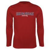 Performance Cardinal Longsleeve Shirt-Squeeze Text