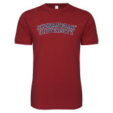 Next Level SoftStyle Cardinal T Shirt-Arched