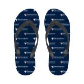 Ladies Full Color Flip Flops-Primary University Mark