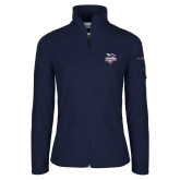 Columbia Ladies Full Zip Navy Fleece Jacket-Official Logo